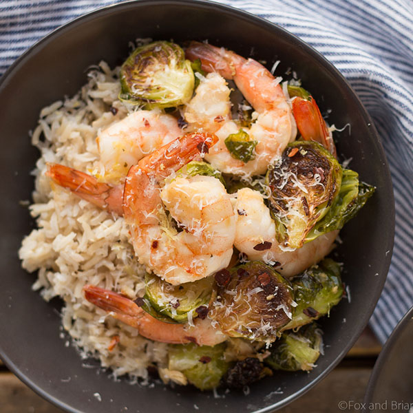Roasted Shrimp and Brussels Sprouts | 25+ Brussels Sprout Recipes