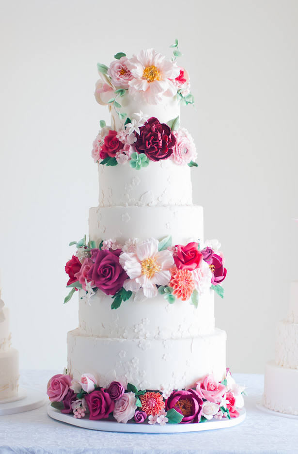 Romantic Floral Wedding Cake - Lulu's Sweet Secrets