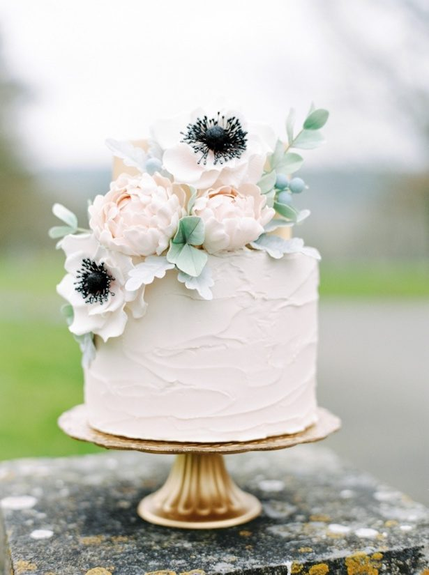 Romantic Floral Wedding Cake - Paula O'Hara Photography