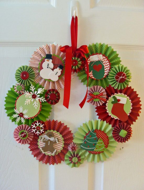 Rosette Christmas Wreath | 25+ MORE Beautiful Christmas Wreaths