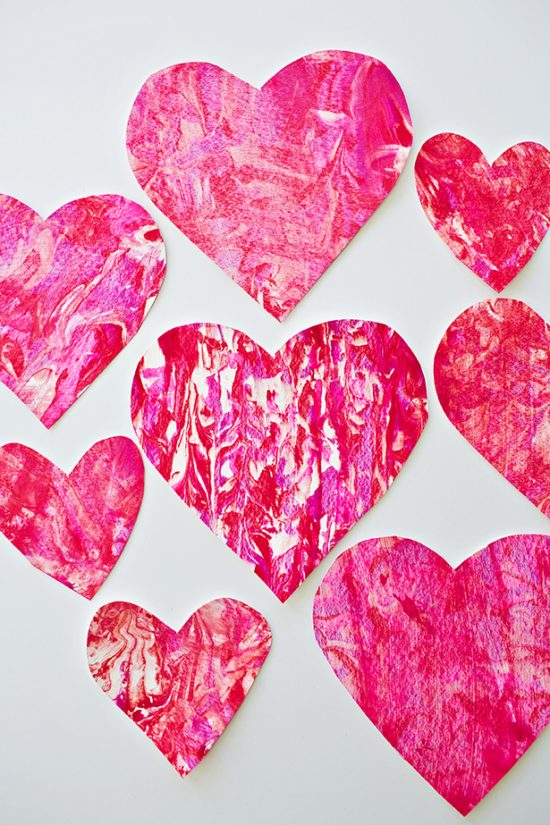 Shaving Cream Heart Art | 25+ Valentine Crafts for Kids