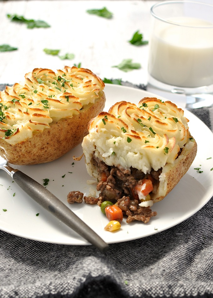 Sheperds Pie Potato Skins | 25+ Potato Skin Recipes