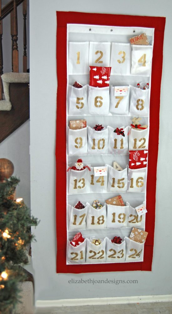 Shoe Organizer Advent Calendar | 25+ MORE Christmas Advent Calendars