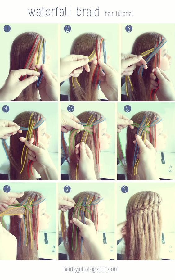 Side Part Waterfall Braid