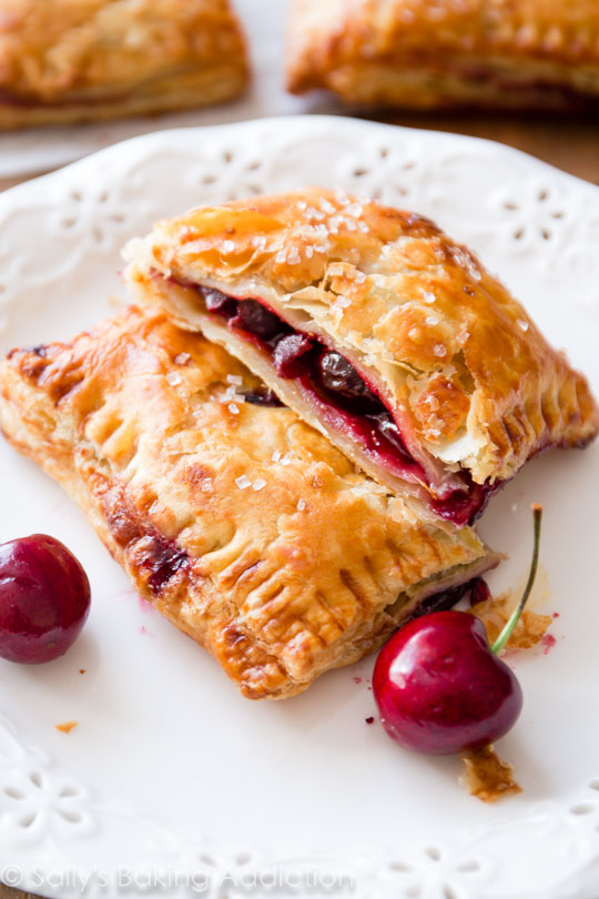 Simple Cherry Pastry Pies | 25+ Puff Pastry Dough Recipes