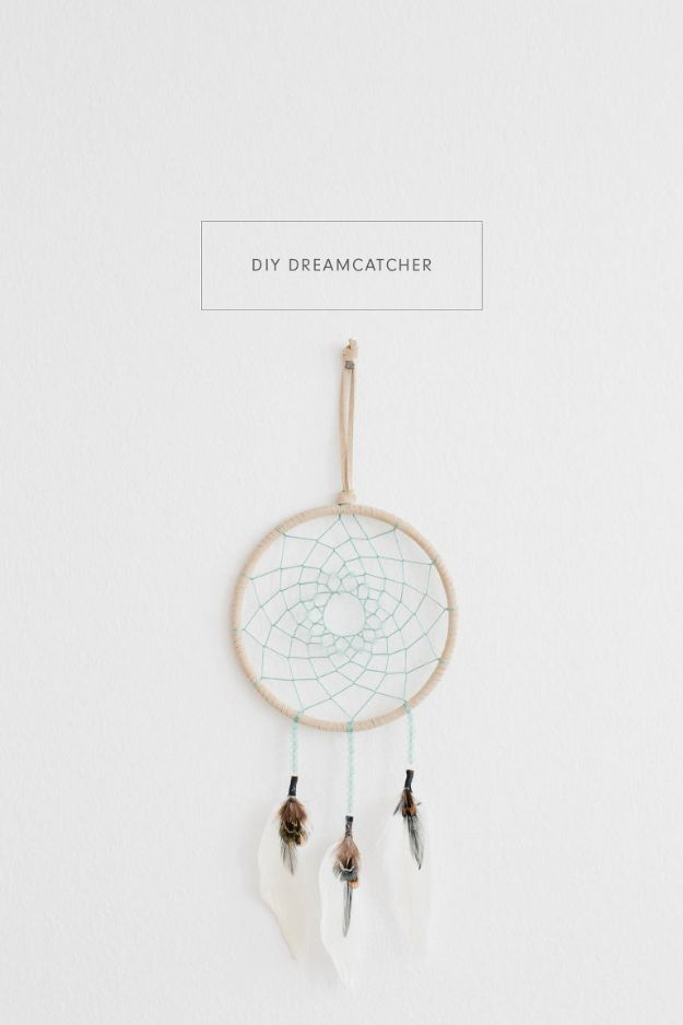 DIY Dream Catchers - Simple DIY Dreamcatcher - How to Make a Dreamcatcher Step by Step Tutorial - Easy Ideas for Dream Catcher for Kids Room - Make a Mobile, Moon Designs, Pattern Ideas, Boho Dreamcatcher With Sticks, Cool Wall Hangings for Teen Rooms - Cheap Home Decor Ideas on A Budget http://diyprojectsforteens.com/diy-dreamcatchers