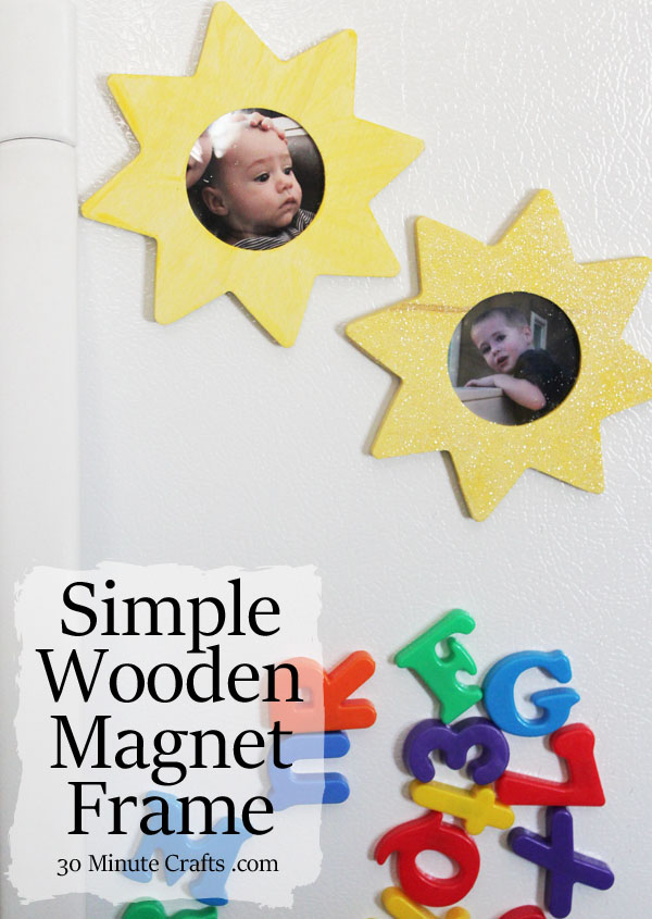 Simple Painted Wooden Magnet Frame | 25+ Summer Crafts for Kids