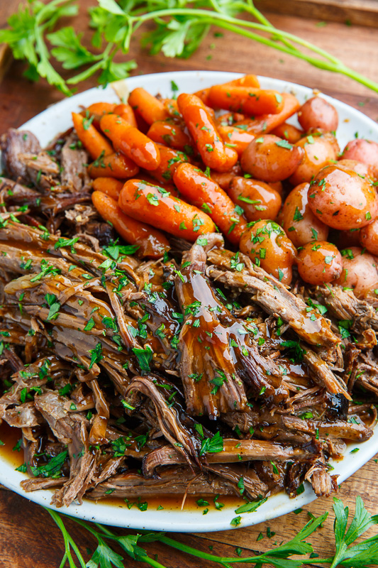 Slow Cooker Balsamic Glazed Roast Beef | 25+ Sunday Roast Recipes