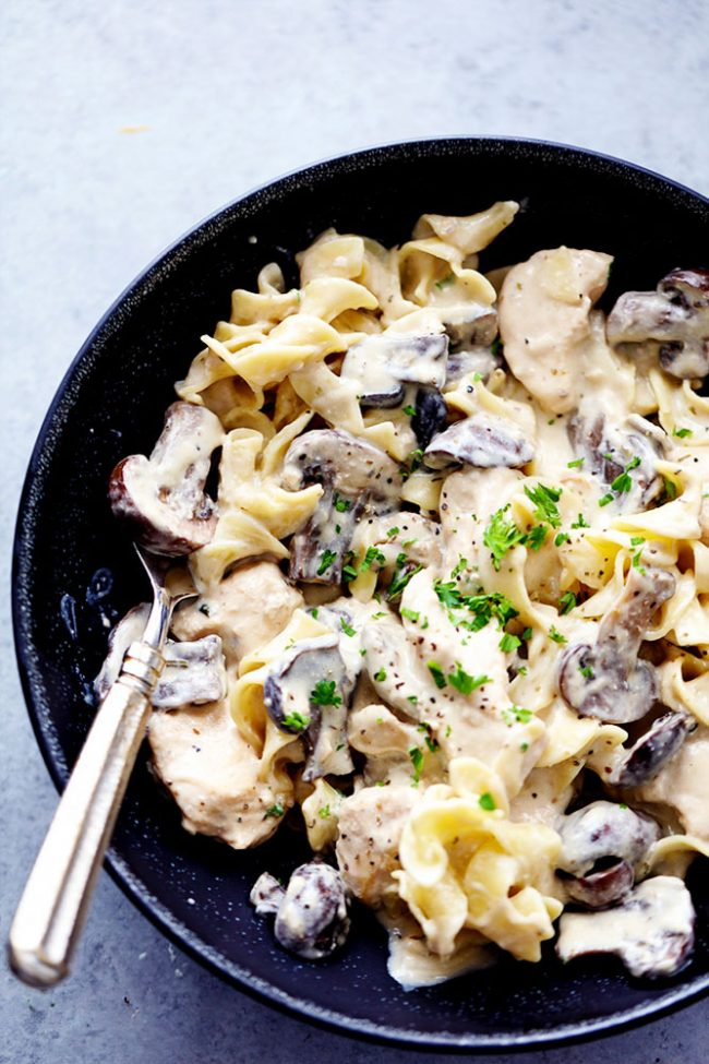 Slow Cooker Chicken and Mushroom Stroganoff | 25+ Savory Instant Pot Recipes