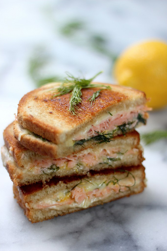 Smoked Salmon & Gruyere Grilled Cheese | 25+ Grilled Cheese Recipes