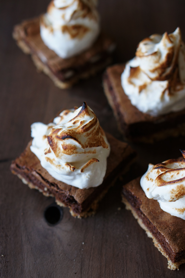 S'more Squares with Smoked Marshmallow Fluff | 25+ S'mores Recipes