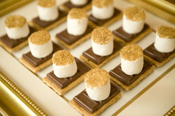 Smores dipped in edible gold sprinkles | 25+ NYE party ideas