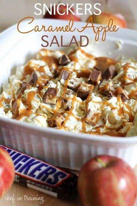 Snickers Caramel Apple Salad | 25+ apple recipes