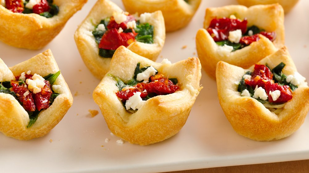 Spinach, Artichoke and Feta Bites | 25+ Cheesy Appetizers and Dips