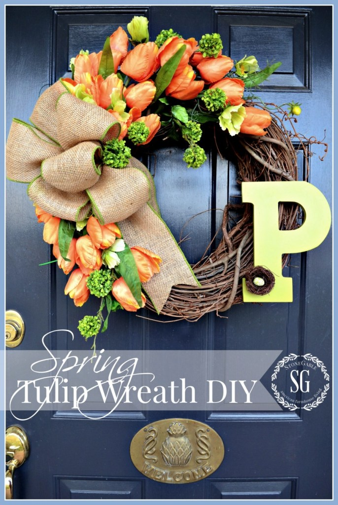 Spring Tulip Wreath DIY | 25+ Spring wreaths