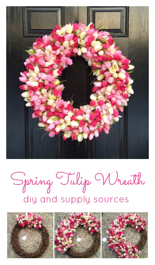 DIY Spring Tulip Wreath | 25+ Spring wreaths
