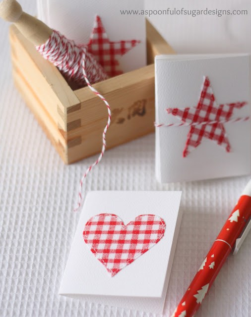 Stitched Card | 25+ Handmade Christmas Cards