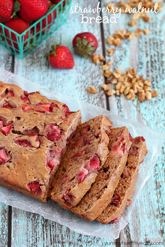 Strawberry Walnut Bread | 25+ Quick Bread Recipes (No Yeast Required)