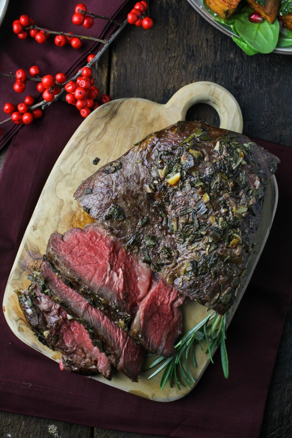 Sunday Dinner Herb Crusted Roast Beef Roasted Root Vegetable Salad Cauliflower and Horseradish Gratin | 25+ Sunday Roast Recipes