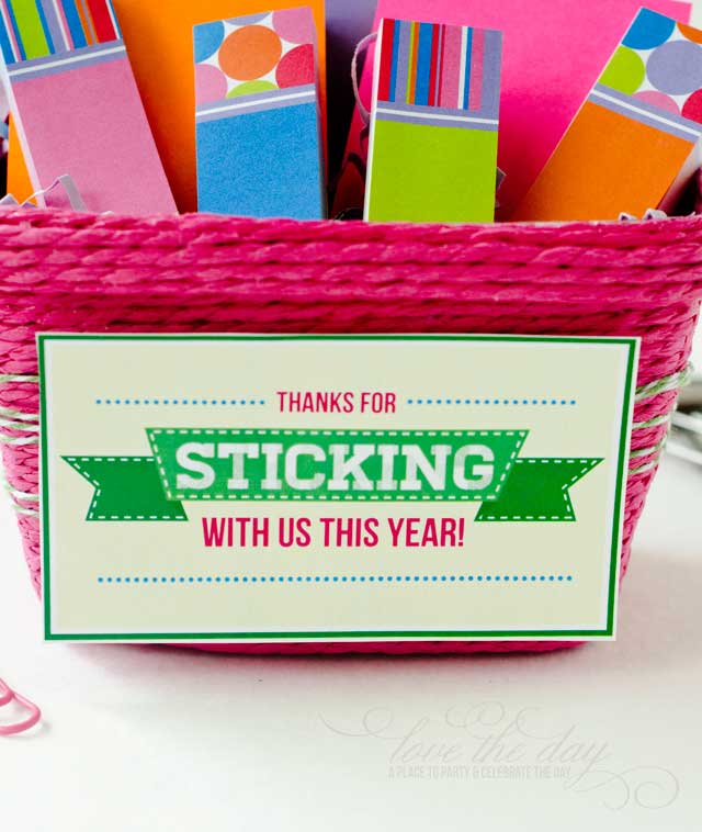 Thanks For Sticking With Us This Year | 25+ teacher appreciation week ideas