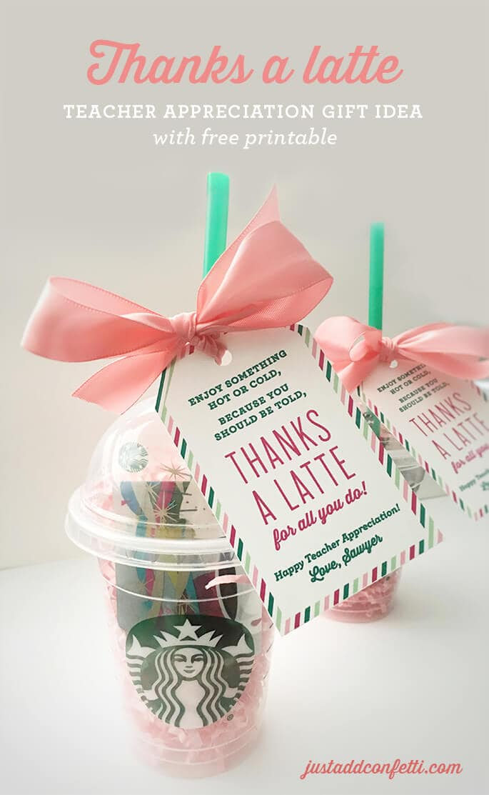 Thanks a Latte + 25 Handmade Gift Ideas for Teacher Appreciation - the perfect way to let those special teachers know how important they are in the lives of your children!