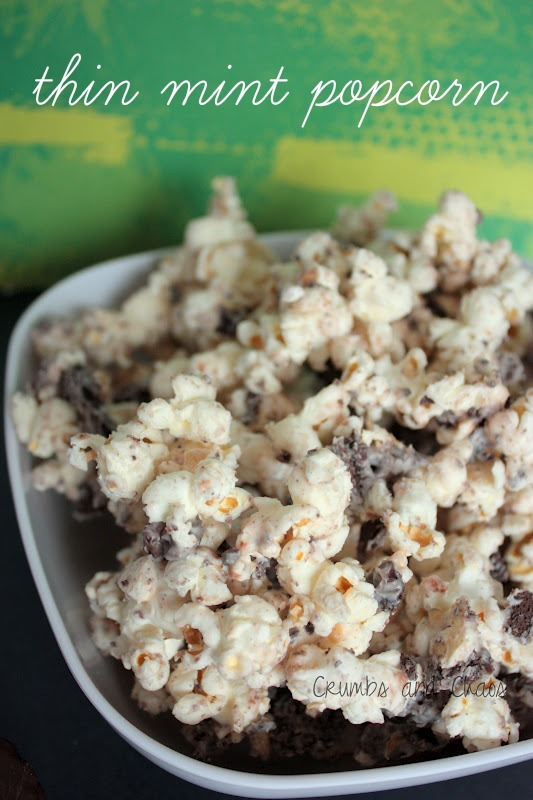 Thin Mint Popcorn | 25+ Girl Scout Cookie Recipes