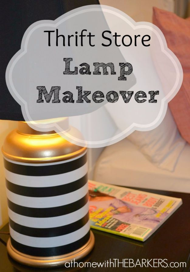 Mod Podge Crafts - Thrift Store Lamp Makeover - DIY Modge Podge Ideas On Wood, Glass, Canvases, Fabric, Paper and Mason Jars - How To Make Pictures, Home Decor, Easy Craft Ideas and DIY Wall Art for Beginners - Cute, Cheap Crafty Homemade Gifts for Christmas and Birthday Presents http://diyjoy.com/mod-podge-crafts