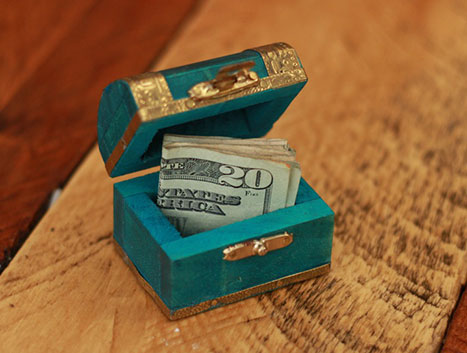 Treaure Chest | 25+ MORE Creative Ways to Give Money