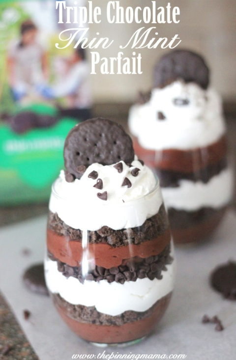 Triple Chocolate Thin Mint Parfait | 25+ Girl Scout Cookie Recipes