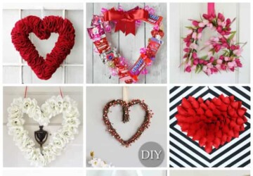 Lovely Handmade Valentine's Wreath Designs (Part 2) - Valentine's Wreath, diy Valentine's day wreath