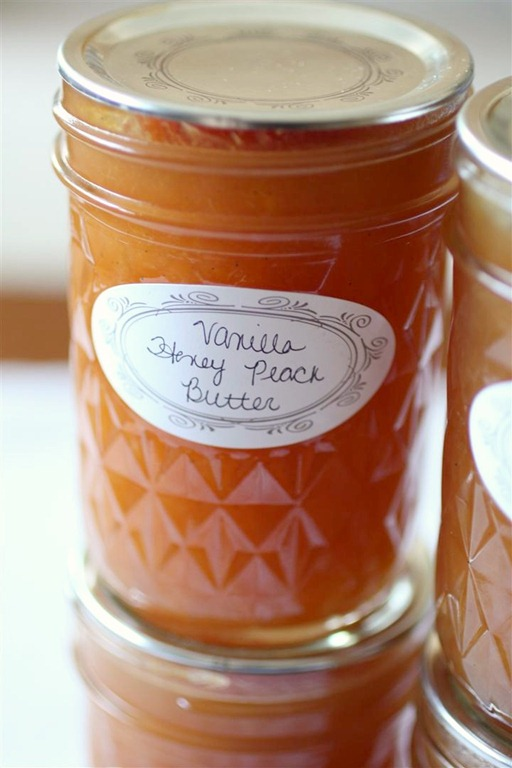 Vanilla Honey Peach Butter | 25+ Canning Recipes