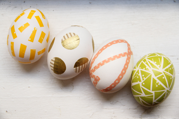 Washi Tape Eggs | 25+ MORE ways to decorate Easter Eggs