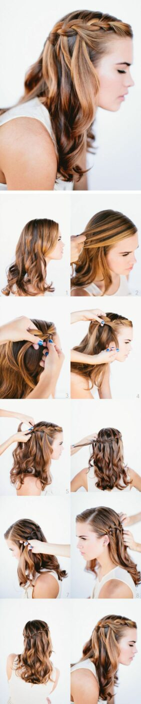 15 Amazing Waterfall Braid Tutorials