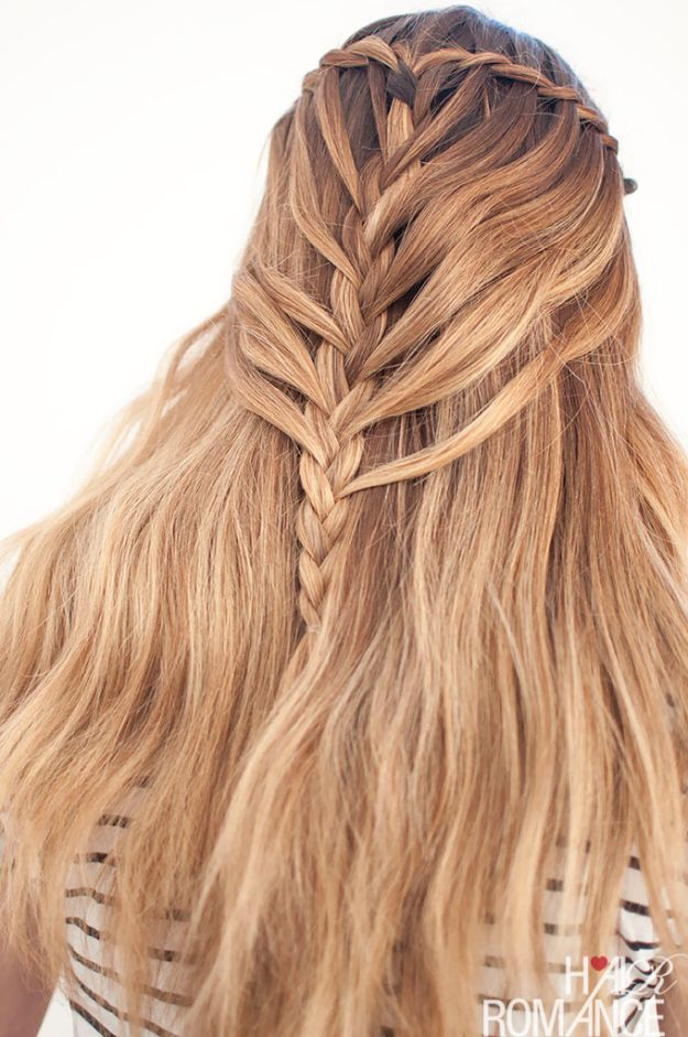 Easy Braids With Tutorials - Waterfall Mermaid Braid For Long Hair - Cute Braiding Tutorials for Teens, Girls and Women - Easy Step by Step Braid Ideas - Quick Hairstyles for School - Creative Braids for Teenagers - Tutorial and Instructions for Hair Braiding http://diyprojectsforteens.com/easy-braids-tutorials