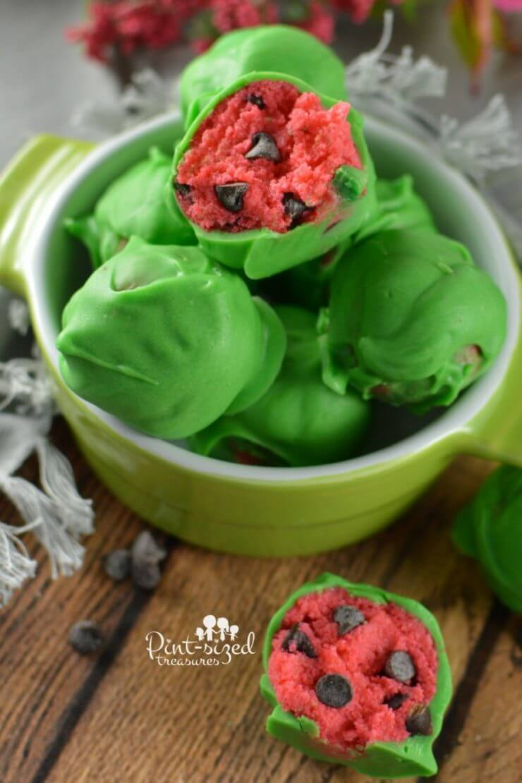 "Watermelon Cake Balls + 25 Mouth-Watering Watermelon Desserts...the perfect refreshment that shouts, ""Summertime is here!"""