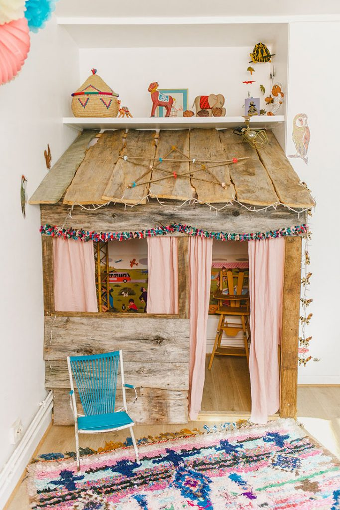 Wooden Rustic Playhouse