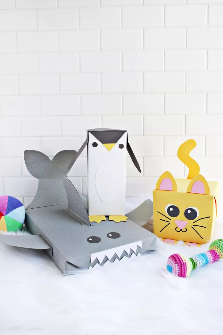 animal wrapping paper boxes