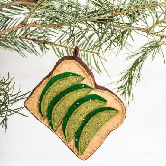 Avocado toast ornament