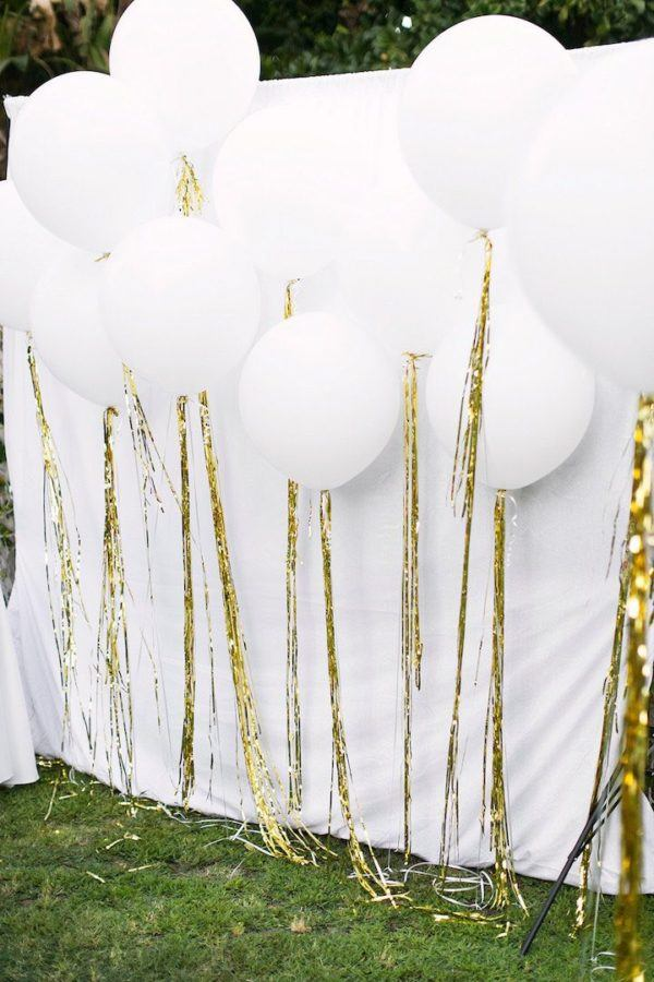 Dazzling Gold Balloon Tassle for Sparkly Pre-wedding or After-wedding Parties