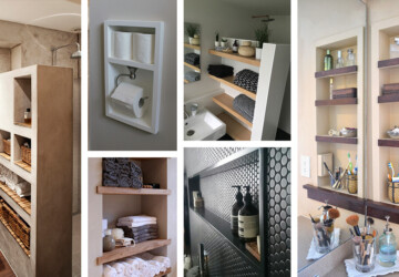 13 DIY Built In Shelving for The Bathroom - shelving, home office shelving, Built In Shevs, Built In Shelving