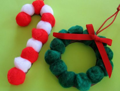 candy cane ornament | 25+ ornaments kids can make