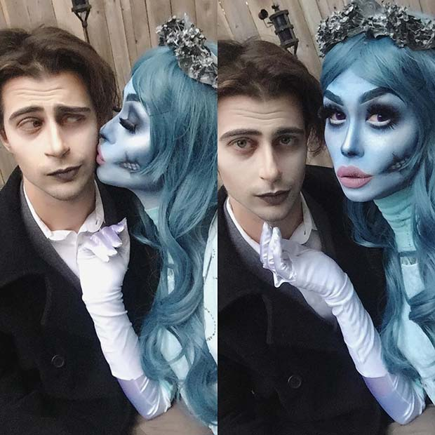 Corpse Bride Couple for Halloween Costume Ideas for Couples