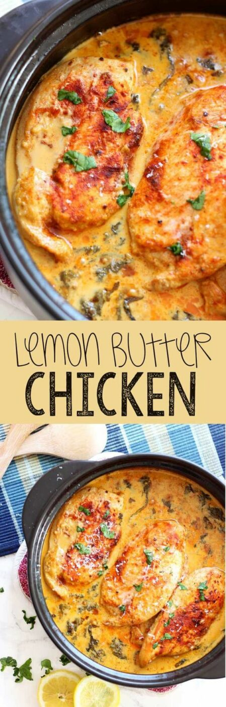 30 Minute Lemon Butter Chicken Dinner Recipe via Eazy Peazy Mealz - Easy chicken dinner, this lemon butter chicken is savory, mouthwatering, and easy to get on the table! - The BEST 30 Minute Meals Recipes - Easy, Quick and Delicious Family Friendly Lunch and Dinner Ideas #30minutemeals #30minutedinners #thirtyminutedinners #30minuterecipes #fastrecipes #easyrecipes #quickrecipes #mealprep