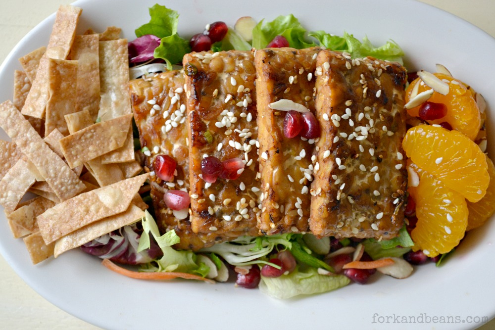 Chinese Tempeh Salad | 25+ delicious salad recipes