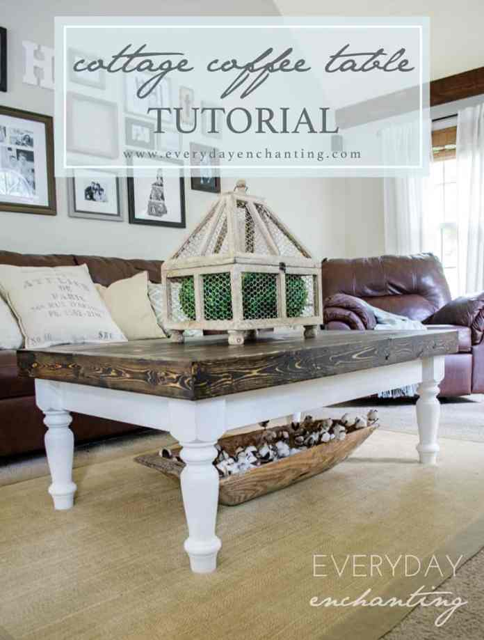 DIY Cottage Coffee Table