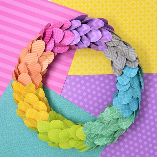 Colorful Paper Wreath
