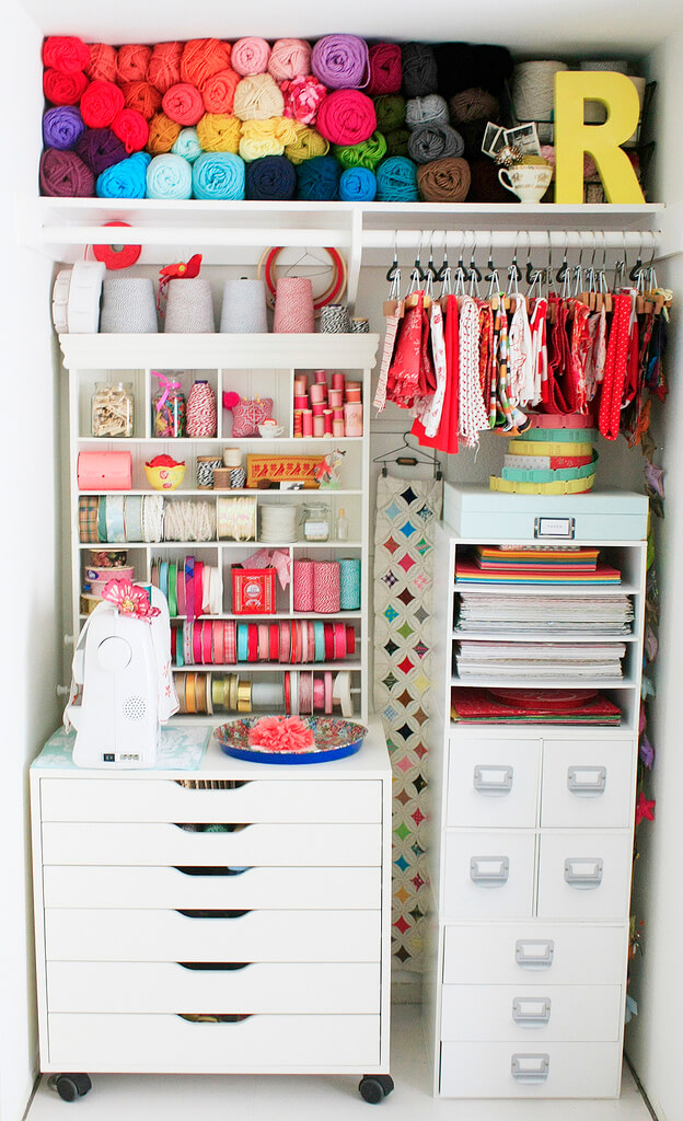 Turn Your Closet Into A Craft Room