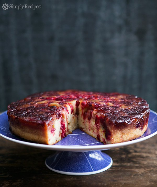 cranberry upside down cake-25+ cranberry recipes-NoBiggie.net