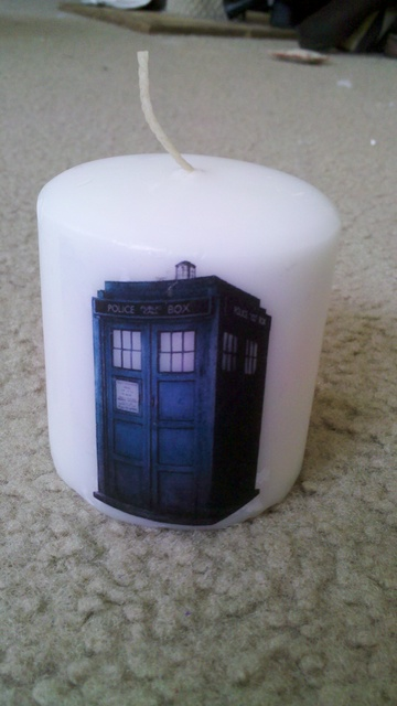Doctor Who Printed Candles