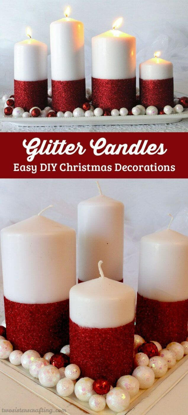 Easy Glitter Candles